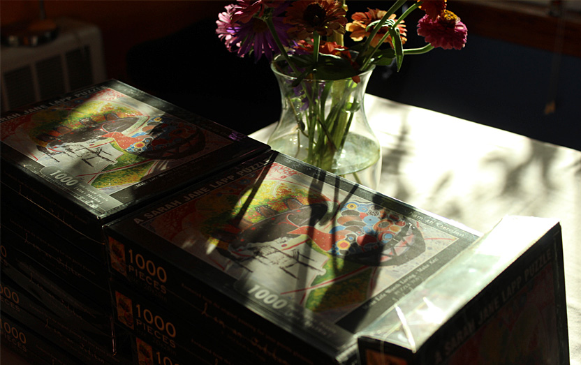 puzzles with flowers